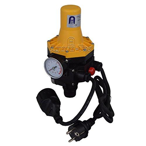 Agora-Tec Pumpen Druckschalter AT-DWv-3 mit Kabel zur Pumpensteuerung für Kreisel-, Tauch- Tiefbrunnenpumpen und...