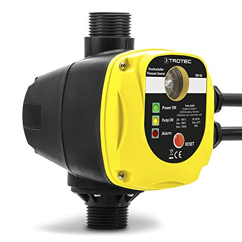 TROTEC Elektronischer Druckschalter TDP DS Pumpensteuerung Druckwächter für Hauswasserwerk Gartenpumpen (max. 10 bar)...