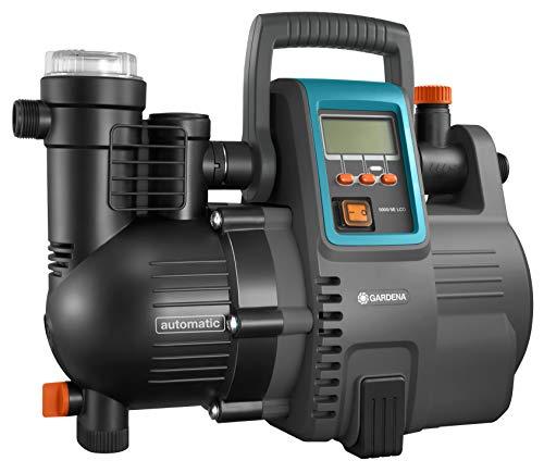Gardena Comfort Hauswasserautomat 5000/5E LCD: Hauswasserpumpe mit LC-Display, energiesparend, Fördermenge 5000 l/h,...
