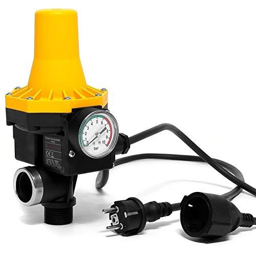 Hengda Pumpenschalter einstellbar von 10 bar Druckschalter Pumpensteuerung für Gartenpumpen Hauswasserwerk