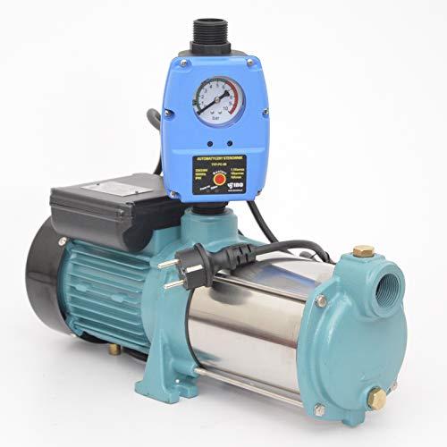 Kreiselpumpe Hauswasserwerk Gartenpumpe MHi 1300 Watt 6000 L/h 5,5 bar mit Schaltautomatik Druckschalter...
