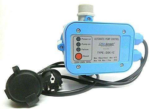 CHM GmbH Pumpensteuerung einstellbar Druckschalter für Gartenpumpe mit Trockenlaufschutz