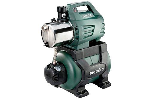Metabo Hauswasserwerk HWW 6000/25 Inox (1300 Watt, 5,5 bar, 24 Liter, Fördermenge 6000 Liter/Stunde, Rückschlagventil,...