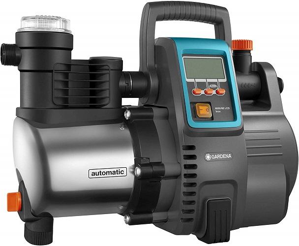 Gardena Gartenpumpe mit Druckschalter Hauswasserautomat Hauswasserwerk 6000 6E Inox